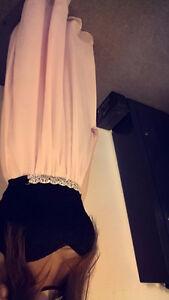 Black & pink graduation dress