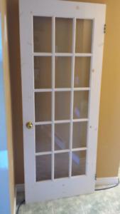 """32"""" x 80"""" glass interior door"""