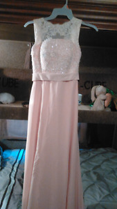 Salmon colour Prom dress $100 obo