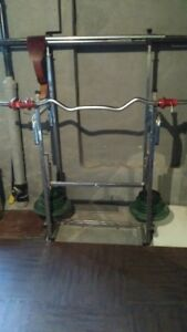 YORK Iron Weights, Bars, Rack, Mat, and Leather Weight Belt!