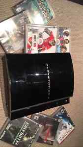 PlayStation 3 / PS3 with 2 contollers and games