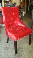12 nouvelle chaises rouge velure / 12  new red velor chairs