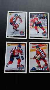 9 cartes hockey upper deck mcdo 1992-93