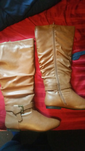 Size 9! Brown Knee High Boots!