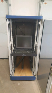Dell server rack with keyboard, monitor and cooling fan new pric