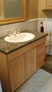 BATHROOM VANITY (with Granite top, Faucet and sink included)