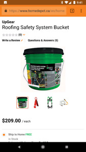 2 Brand New roofing safety system buckets