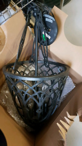 Gothic/Victorian Teardrop Style Hanging Light w/ Chain