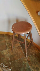 OLD FOUR-LEG STOOL FOR SALE