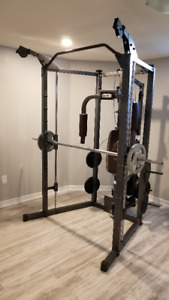 Marcy Smith Cage Machine with Weight Bar Home Gym