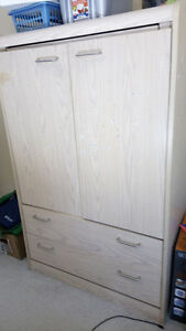 Closet, End Table and Microwave Cart