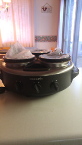 Crockpot tripple dipper food warmer