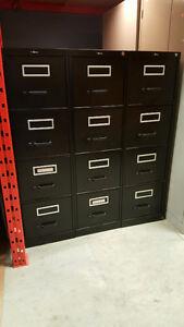 Filing Cabinets  - 4 Drawer Vertical - Black