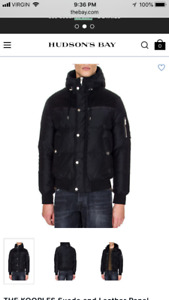 size large brand new kooples leather suede jacket
