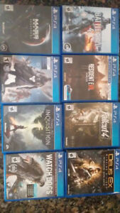Selling 8 ps4 games for 30