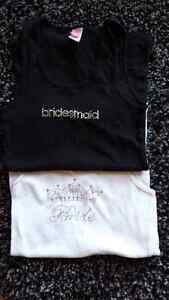 Brides maid and brides tank tops