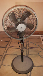 Stand up fan with remote