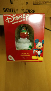 Disney, mickey mouse snow globe, $15