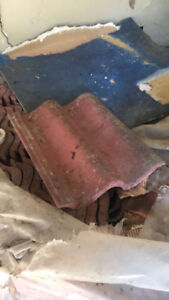 900 Pieces of Red Clay Roof Tiles **ASKING $800**