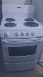 "24""Stove White Electric Ge"