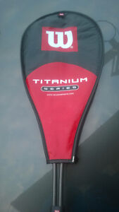Wilson Titanium series Squash Racquet  like new very good shape
