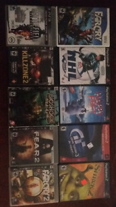 PS2, PS3 & Wii games... $5 each