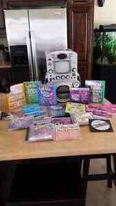 KARAOKE MACHINE WITH MICROPHONE & 43 CD'S