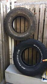 Bfg Goodrich all terrain tyres