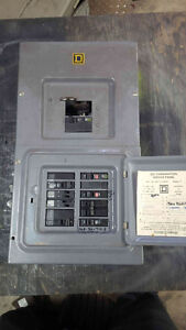 Used Square D 100 amp panel with breakers