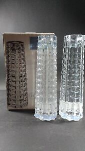 "Celebrations Facets Set of 2 7 "" Crystal Candleholders"