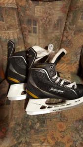 Hockey skates and helmets
