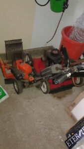 Yard equipment to go--gas powered mower and edger