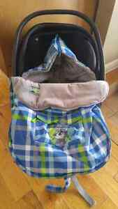 Winter baby bag for car seat