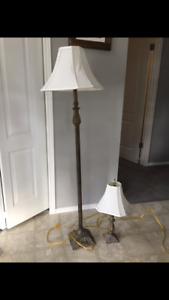 Floor Lamp & Matching Bedside Lamp