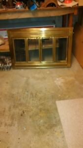 Fireplace front, brass