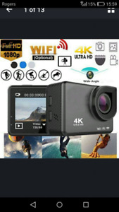 ( FOR SALE ) 4 K 1080 TOUCH SCREEN ACTION CAMERA