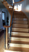 Stair Sanding, hardwood, laminate, Vinal and Stair Cap