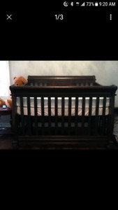 Solid wood crib for sale