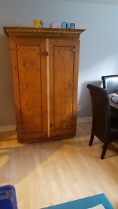wood coffee table tv unit and cabinet