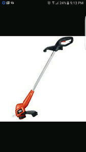 Black &Decker cordless trimmer & edger
