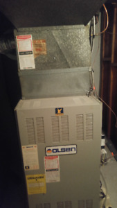 Excellent condition Olsen Oil Furnace and Tank