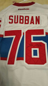 AUTOGRAPHED PK SUBBAN WINTER CLASSIC JERSEY