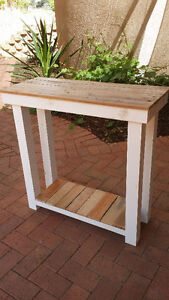 Made to order - rustic pallet wood hall table, bench