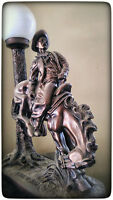 Vintage Remington Style Bronze Lamp, Rider and Horse