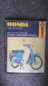 Honda c50 Haynes workahop manual