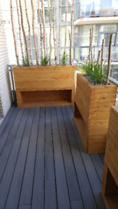Condo Balcony Flooring and Furniture - All Custom Made!