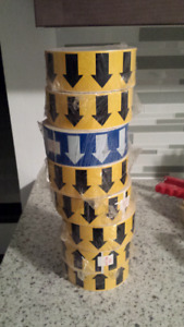 Brady arrow tape yellow and blue 10$ ea. Or all 8 for 60$
