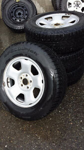 Winter Tires (Used) w/Rims for Honda Pilot