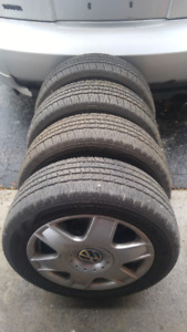 GoodYear P205 55 R16 winter tires with alloy rims