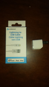 CABLE LIGHTNING + CUBE IPHONE